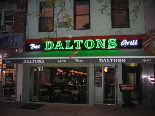 Sample Sign Daltons Bar Grill