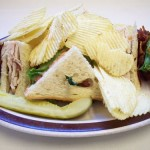 Sandwich and Chips Royalty Free