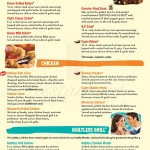 Fridays Sample Menu Marketing Example 2