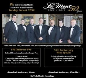 Lemont Restaurants Website