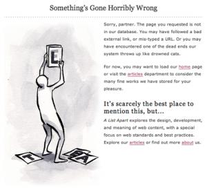 A List Apart 404 Page