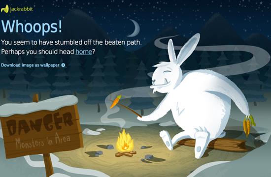 Jumping Jackrabbits 404 Page