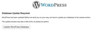Wordpress Update Database