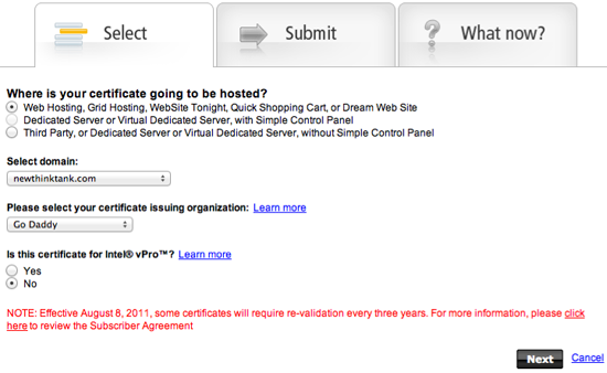 Go Daddy SSL Certificate Setup 4
