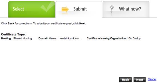 Go Daddy SSL Certificate Setup 5