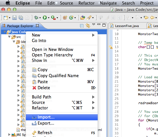 Install Java Library 3