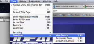 Google Chrome View Source