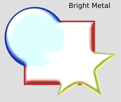 Bevels Bright Metal