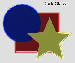 Bevels Dark Glass