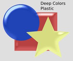 Bevels Deep Colors Plastic