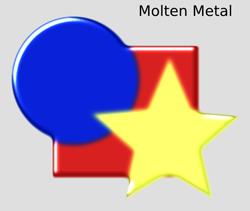 Bevels Molten Metal