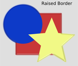 Bevels Raised Border