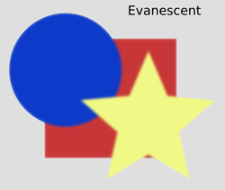 Blurs Evanescent