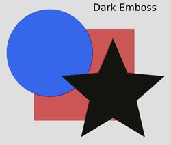 Bumps Dark Emboss