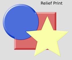 Bumps Relief Print