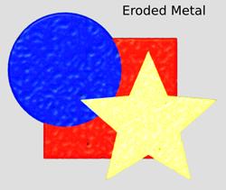Materials Eroded Metal