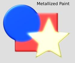 Materials Metallized Paint