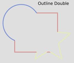 Morphology Outline Double