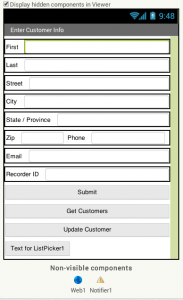 App Inventor Designview PHP MySQL