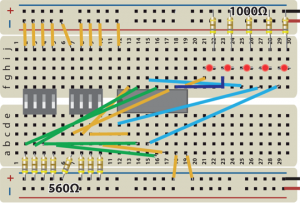 4 Bit Binary Adder Breadboard
