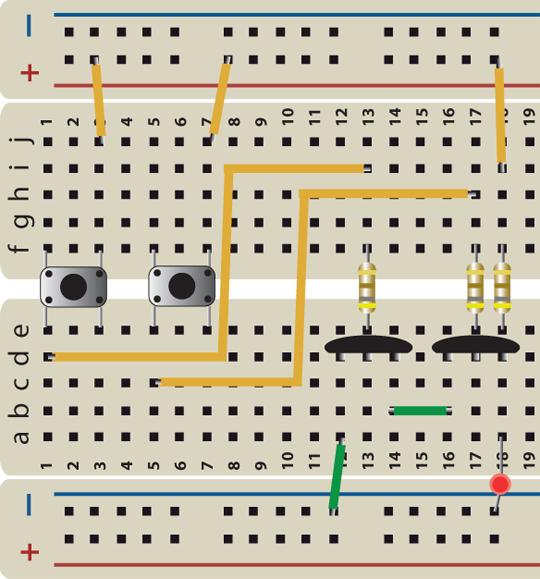 NAND Gate Breadboard