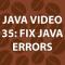 Java Video Tutorial 35