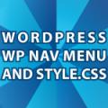 wp nav menu